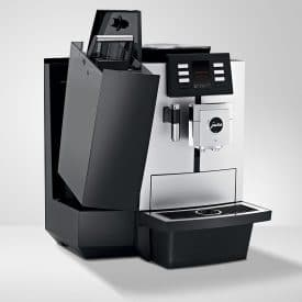 Jura JX8 Bean to cup open view